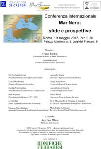 Black Sea Conference 19 maggio 2016